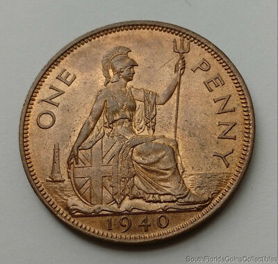 1940 Great Britain One Penny Uncirculated