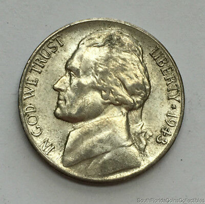 1943-S San Francisco Silver Jefferson War Nickel About Uncirculated Condition