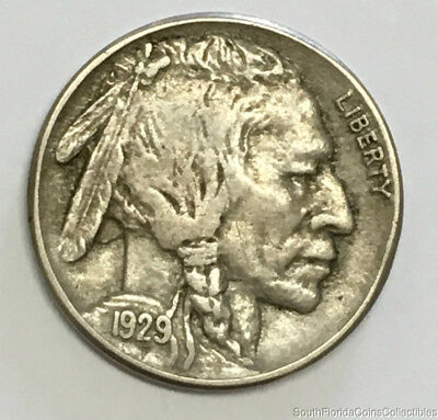 1929-S San Francisco Mint Buffalo Nickel Extra Fine Condition Better Date