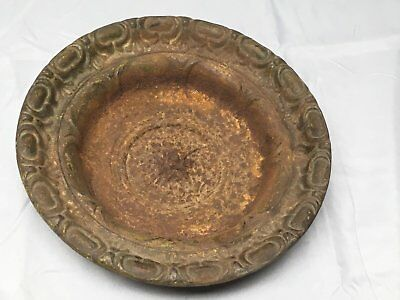 Antique Cast Iron Bowl Dish Planter Decorative Tray Urb Pot Old Vintage 546-17E