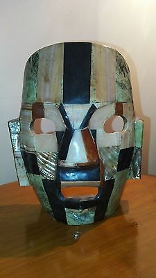 stone and abalone inlay mask decoration
