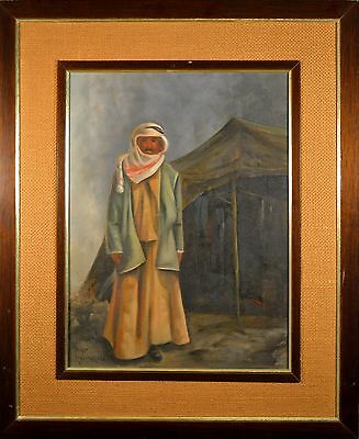 """Original Pat Rumrill Oil Painting Pseudo for """"Betty King"""" Middle Eastern Man!!"""
