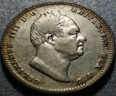 "1834 GREAT BRITAIN Silver SHILLING, The SHORT REIGNED ""Sailor King"" WILLIAM IV"