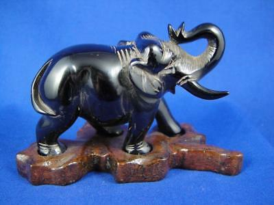 Antique Carved Cherry Amber Bakelite Elephant Figurine ~As Is