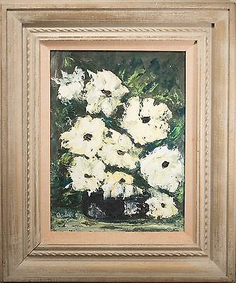 Beautiful Mid Century Impressionist Oil Painting of Floral Still Life, Signed!