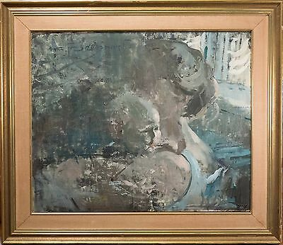 Beautiful Antique Scandinavian Oil Painting on Canvas, Illegibly Signed, NICE!