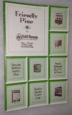 Vintage Catalog Friendly Pine Yield House Furniture North Conway New Hampshire