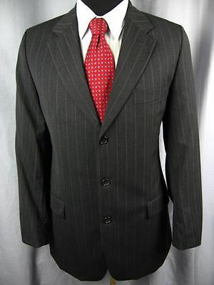 Exquisite BOSS BY HUGO BOSS $895 Charcoal Striped 3 Button Suit 42L    D45