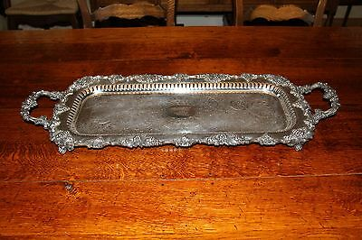 Vintage TROPHY plate CROWN Silver enhanced MIELE Butler Tray serving centerpiece