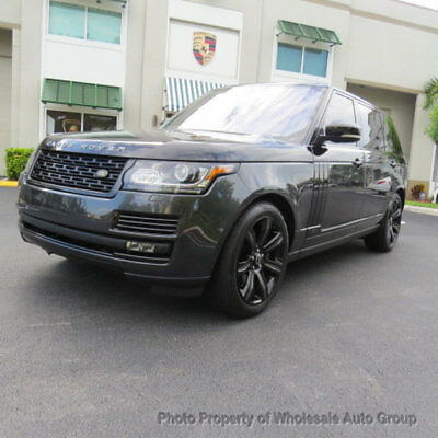 2016 Land Rover Range Rover 4WD 4dr Supercharged LWB FULLY LOADED. ONE OWNER CARFAX CERTIFIED. MUST SEE