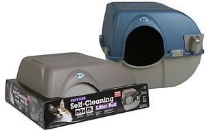 Omega Paw Roll' N Clean Litterbox, Self Cleaning, Easy Maintenance - Large