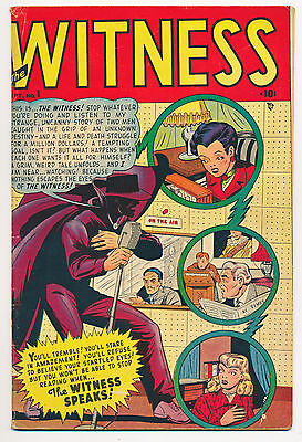 THE WITNESS No. 1, 1948 - RARE TIMELY/MARVEL FIRST ISSUE Golden-Age