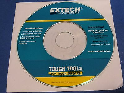 "New EXTECH HD400 Light Meter 3 1/4"" Software Disc"