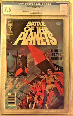 Battle Of The Planets 1979 Gold Key Comic #1 Cgc 7.5 White Pages