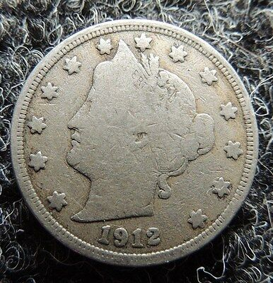 1912   Liberty Nickel       Very Good  /  Fine        Condition          INVEST