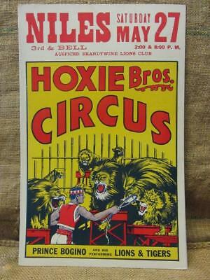 Vintage 1972 Hoxie Brothers Circus Poster > Antique Old Fair Entertainment 9746