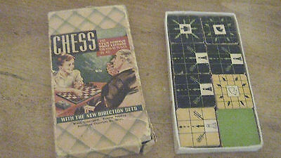 Chess small box. Cardboard flat pieces
