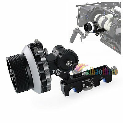 TILTA FF-T03 Follow Focus A/B Hard Stop +Crank Handle +30cm Whip Camera 15mm Rig