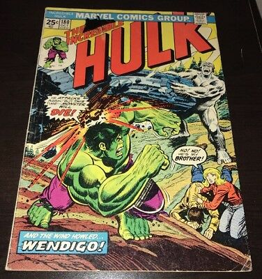 The Incredible Hulk #180 1st Wolverine Cameo Marvel Bronze Age KEY Comic