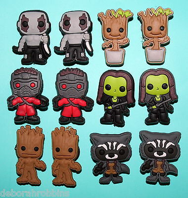 Guardians of the Galaxy Cake Decorations 12 Toppers Party Favours Avengers NEW