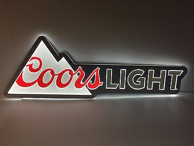 "Coors Light LED Sign Signature Logo  - NEW & F/S - 40"" X 13.5"" - Nice Size Sign"