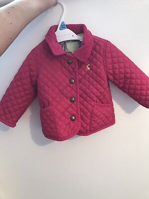 Joules Pink Baby Coat 3/6  Months