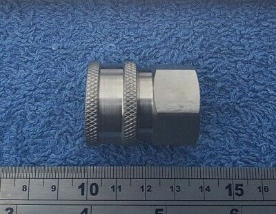 "STAINLESS STEEL 11.6MM FEMALE LANCE QUICK RELEASE COUPLING X 1//4/"" FEMALE THREAD"