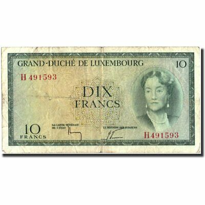 [#570680] Luxembourg, 10 Francs, Undated (1954), KM:48a, VF(20-25)