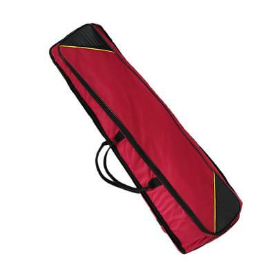 Oxford Fabric Shoulder Bag Tenor Trombone Stage Bag for Trombonist Claret