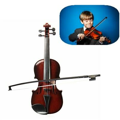 Adjustable String Musical Beginner Kids Instrument Simulation Violin Practice AU