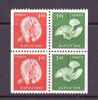 Sweden  1981  Christmas 2 pairs, MNH.