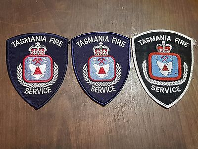 3x obsolite tasmanian fire service patchs