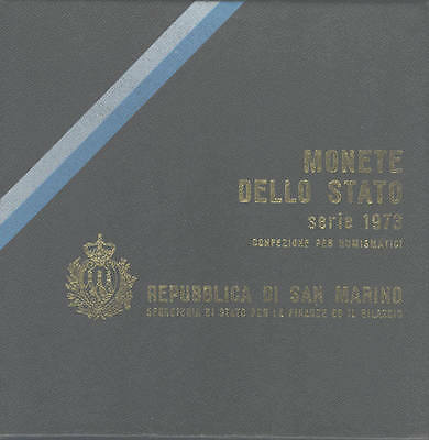San Marino; 1973 Uncirculated Set; 8 coins up to silver 500 Lire; FREE UK pp