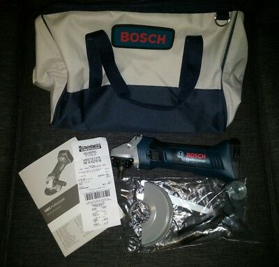Bosch GWS Cordless Angle Grinder 18V Lithium Ion 3 YEARS WARRANTY NEW + BAG
