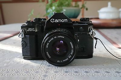 Canon A-1 35mm SLR Film Camera and Canon 50MM FD F1.8 Lens