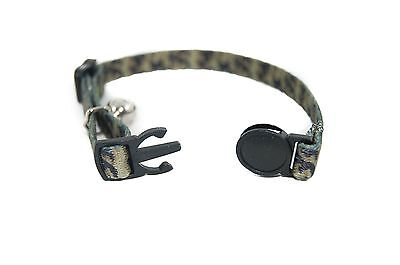 "Pet Palace ""Military Moggy"" Adjustable Cat Safety Collar with camouflage design"