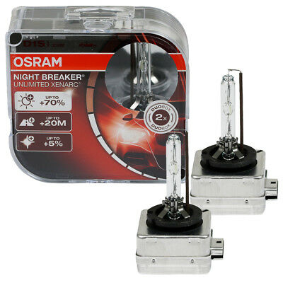Osram D1S 35W Night Breaker Unlimited Xenarc 66140XNB Duo Box 70% mehr Licht