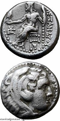 Uncertain Mint Ancient Greek Coin Alexander The Great Silver Drachm 336-323 Bc