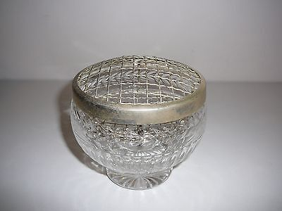 "Stuart Crystal Rose Bowl Vase ""Senator"" Discontinued pattern Stunning Rare"