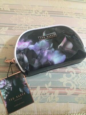 New Ted Baker Small Pvc Make Up Bag Cosmetic Travel Case Wash Bag Vanity Bag