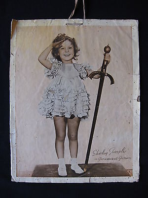 SHIRLEY TEMPLE Original 1930s promotional advertisment Paramount Pictures sword