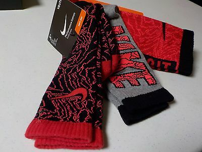 Boys Size 3Y-5Y Nike Crew Performance Cotton Cushioned Socks 3 Pack New #2434