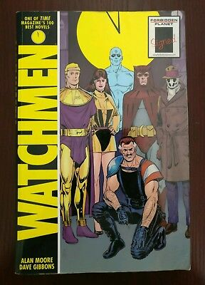 Watchmen graphic novel paperback signed by Dave gibbons
