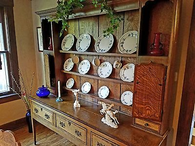Antique Welsh Dresser,  English Oak, 18th/19 century, cupboard, buffet, cabinet