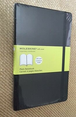 MOLESKINE Classic Soft Cover Notebook Plain Pages 5 x 8.25