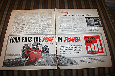 Vintage 1957 Ford Tractor Ad 960 Puts The Pow in Power Row Crop Rare