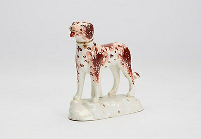 Antique Staffordshire Figure Of A Dog Early 19Th C