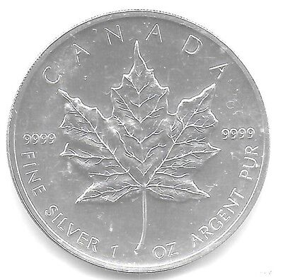 Canada 2004 5 Dollars .999 1 Oz Silver Coin(Sealed) KM-607 Choice BU