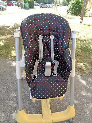 Peg perego high chair replacement cover in HF fabric easy to clean
