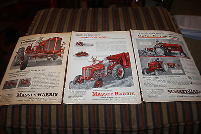 Vintage 1957 Massey Harris Ferguson Tractor Ad MH60 MH50 MH21 444 333 Rare